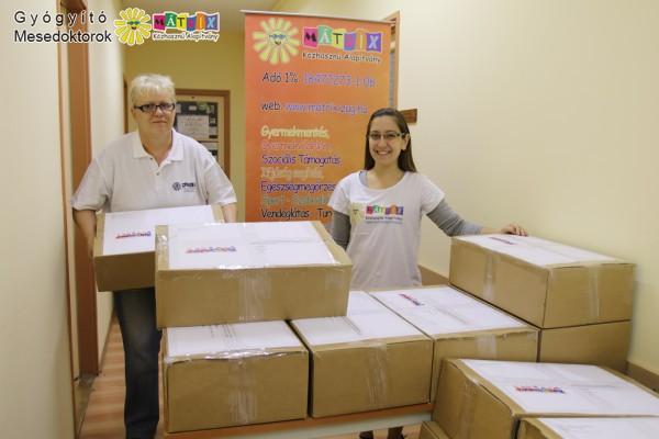 mesedoktorok mesekönyv csomagok gyermekkórházakba