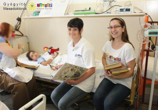 Meseterápia, kórháztámogatás - mesedoktorok adó 1% támogatása