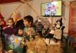 Ibolya és a gyerekek bábjátéka a mesés kastélyban
